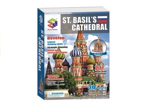 3D Puzzles Saint Basil's Cathedral in Moscow 231 PCS