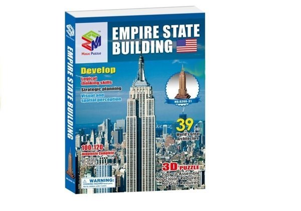 3D Jigsaw Puzzle - Empire State Building & Tower Bridge