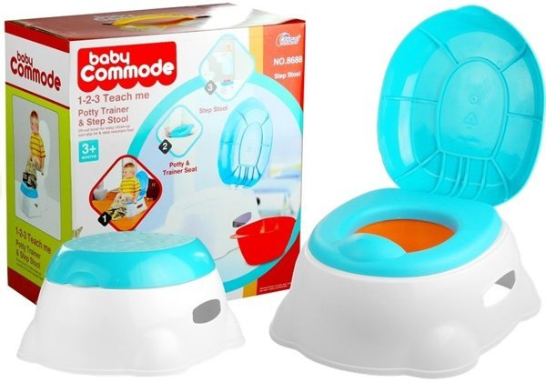 3in1 Baby Commode Potty Trainer Seat Step Stool