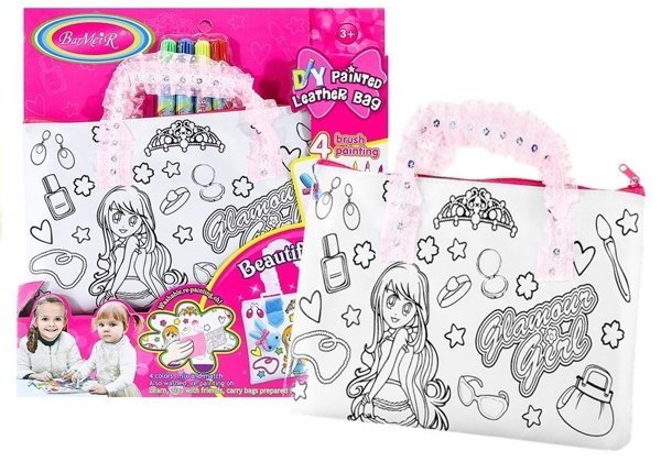 A re-washable handbag with 4 waterpens included