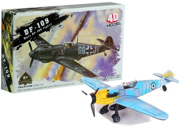 Airplane Puzzle 4D Model  BF-109 1:49