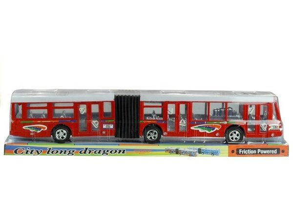 Articulated Bus Friction Powered 41,5 cm Long Red