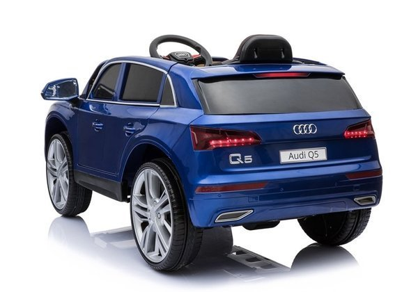 Audi Q5 Blue Painting - Electric Ride On Car - Rubber Wheels Leather Seats 2,4G Remote