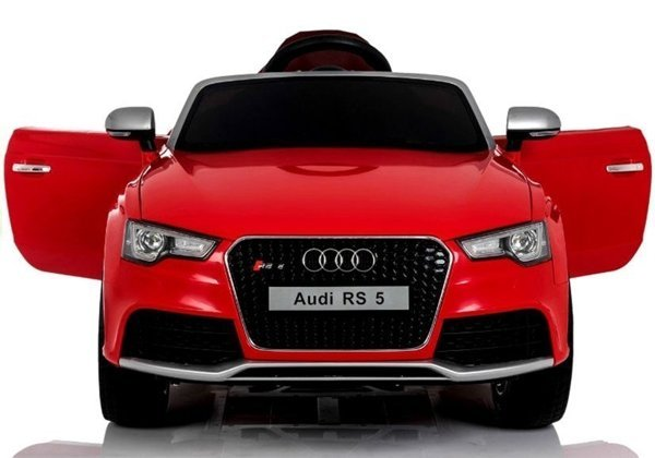 Audi RS5 Red - Electric Ride On Car - Rubber Wheels Leather Seats 2,4G Remote