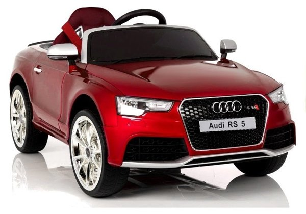 Audi RS5 Red Painting Electric Ride On Car - Rubber Wheels Leather Seats 2,4G RC