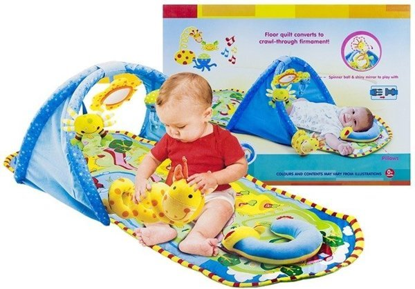 Baby Newborn Educational Rug Carpet Mirror Quilt Mat 124 cm Play Gym