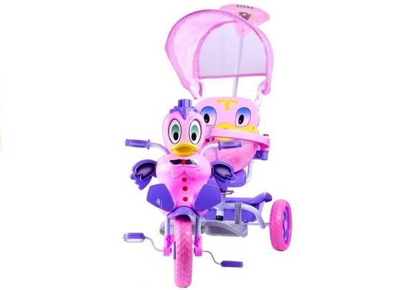 Baby Toddler Child Tricycle Trike Scooter With Sounds Parent Handle Awning