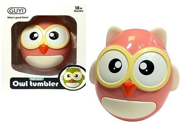 Baby rattle Teether Pink Owl