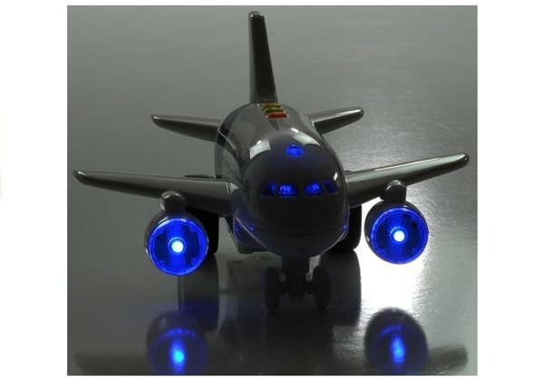 Big Plane Friction Powered Aviation Sounds Lights 1:120