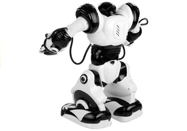 Big R/C Robot Roboactor 40 cm Black Dances Performs Karate