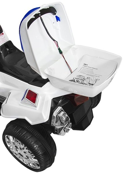 CH815 White - Electric Ride On Police Motorcycle