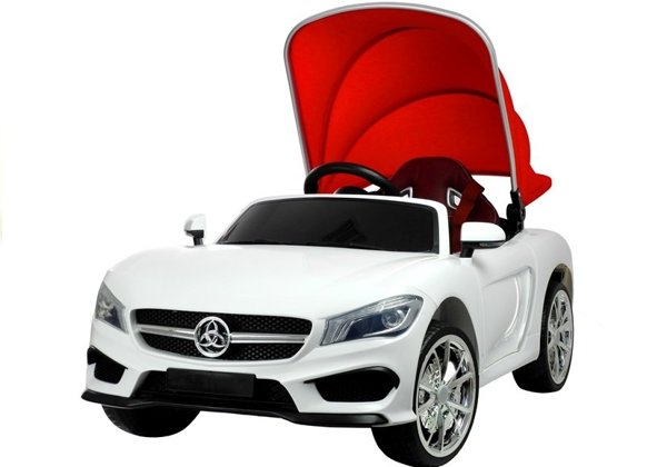 Cabrio Sports Car White - Electric Ride On Vehicle
