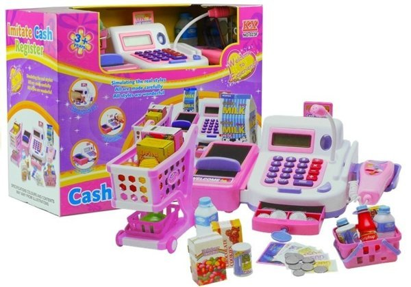 Cash Register with a Shopping Trolley Play Set
