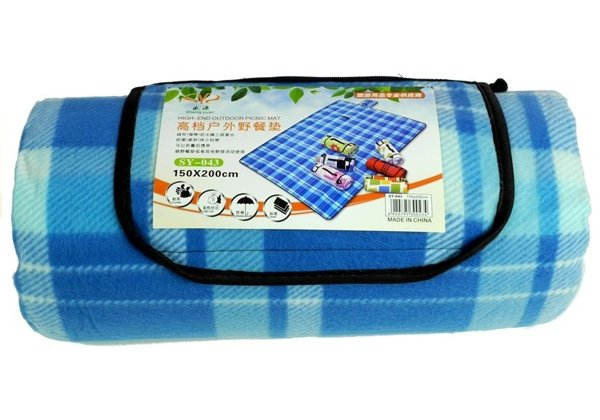 Checkered Picnic Blanket 150x200 Blue