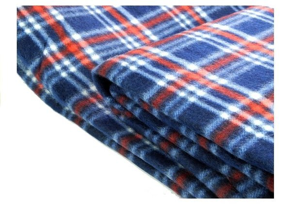 Checkered Picnic Blanket 150x200 Blue-Red