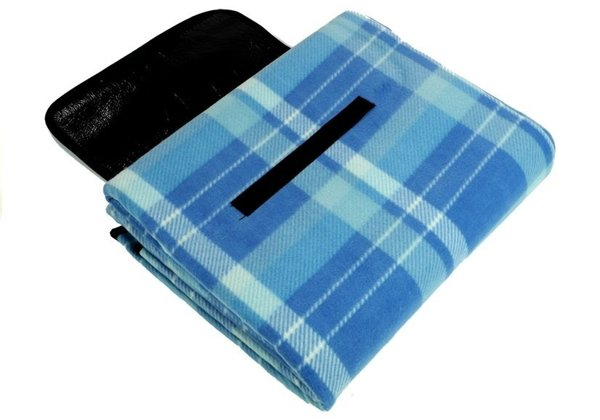Checkered Picnic Blanket 150x250 Blue