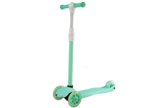 Children's Scooter Three-Wheeled Balance Model 988 with LED Green
