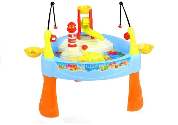 Colorful Fishing Table With Fishing Rods For Kids