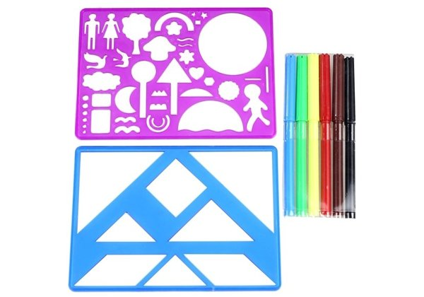 Colorful Shape Patterns To Draw For Children
