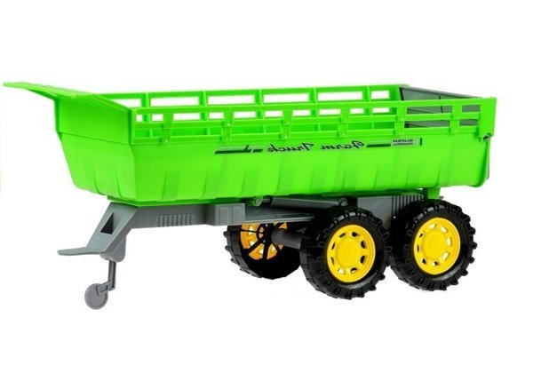 Giant Tractor with Trailer + Interchangeable Buckets