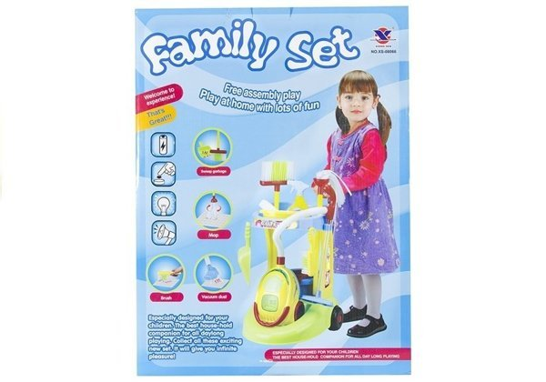 Family Set Big Realistic Roleplay Kit Household Cleaning