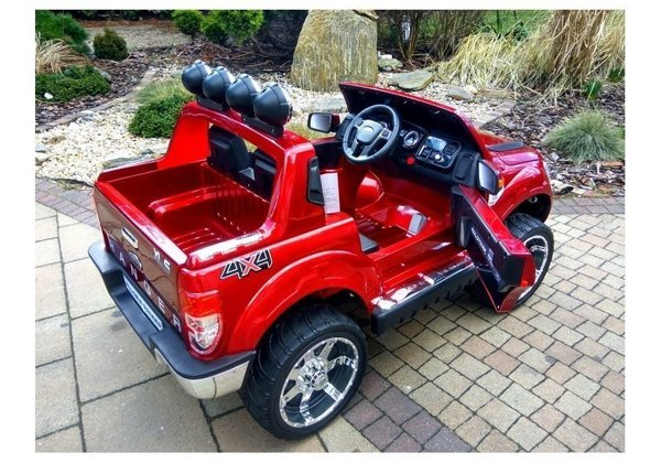 Ford Ranger Red Painting - Electric Ride On Car 2,4G RC EVA Wheels Leather Seat
