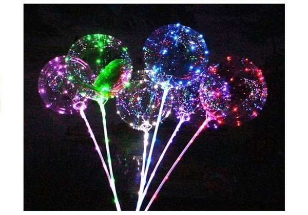 Glowing Balloon LED Batteries Colorful Light