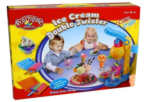 Ice Cream Double Twister Plasticine Magical Set
