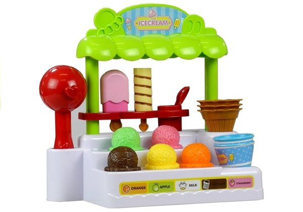 Ice Cream Shop Play Set - with Cash Register & Bar Code Scanner