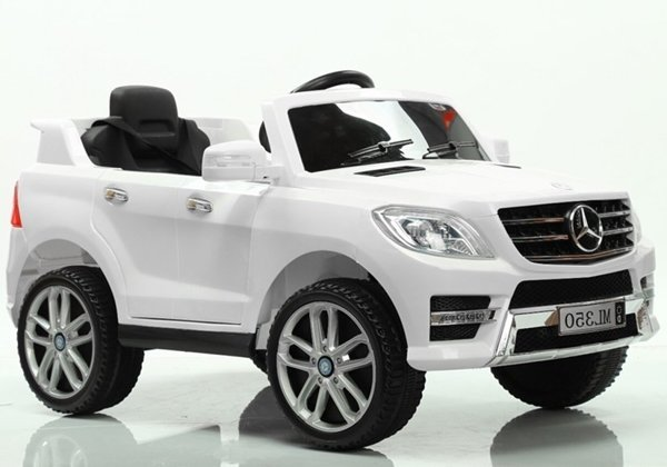 Mercedes ML350 White - Electric Ride On Car with 2.4G RC