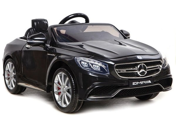 Mercedes S63 AMG Black - Electric Ride On Car - Rubber Wheels Leather Seat 2x45W