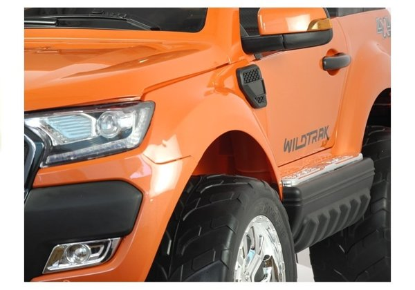 New Ford Ranger Orange Painting - 4x4 Electric Ride On Car - LCD Display