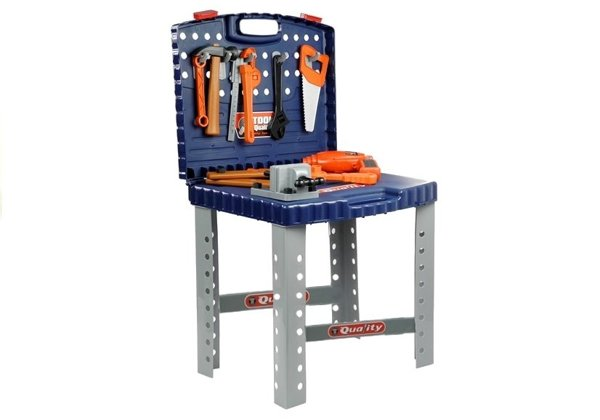 Quality Tool Set for Children - with a case, driller, workbench