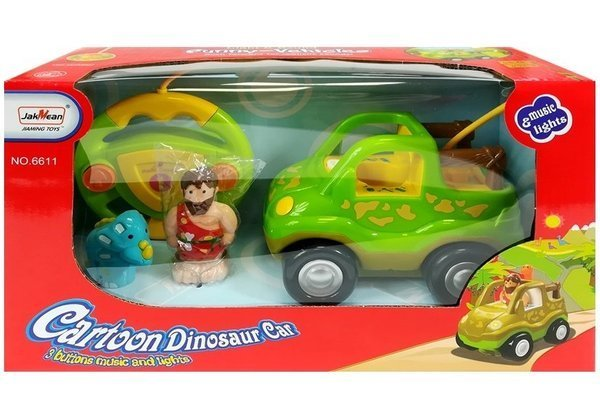 R/C Car Safari Style with Dinosaur Light Green