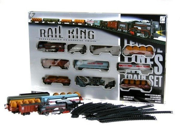 Railway King Set Including Locomotive & 9 Wagons