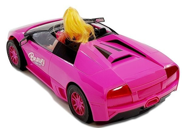 Sports car with a doll Dark Pink