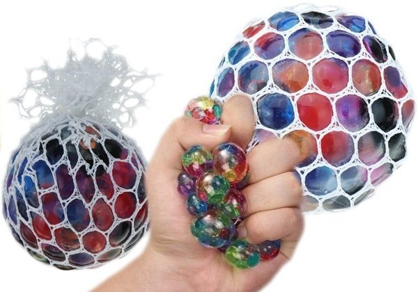 Squishy Anti Stress Ball Colorful in Net