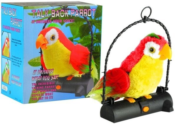 Talk Back Parrot - Imitates Your Voice and Sounds