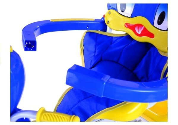 Toddler Tricycle, Trike - with sounds, parent handle, blue duck