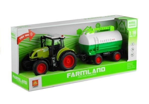 Tractor with a Trailer Tanker Sound Friction Motor 37,5 cm