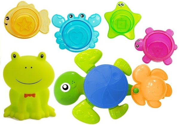 Turtles Bathing Kit Starfish Plastic Waterfall