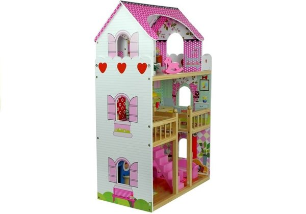 "Wooden Dolls House ""Melissa"" Multi-Storey with 5 Rooms"