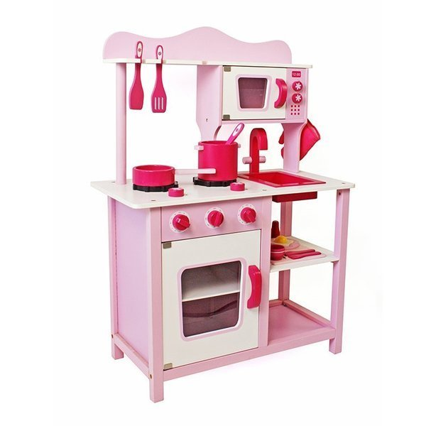 "Wooden Kitchen ""Martina"" with Washer and Oven"