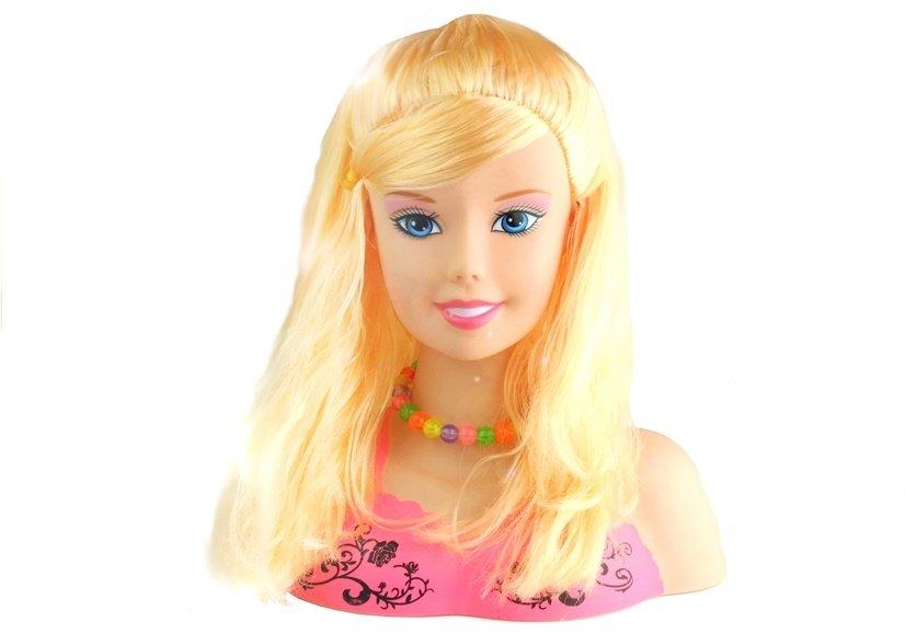 Frisierkopf Frisurenkopf Puppenkopf Blond Spielzeug Für Kinder 3