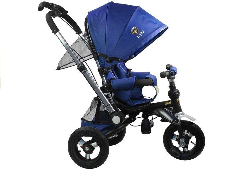 Dreirad Hündchen Blau Sonnendach Korb Stahlrahmen Räder aus Schaumstoff BLAU