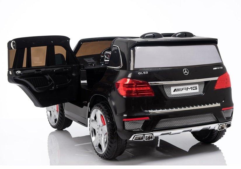 Kinderfahrzeuge Elektroauto für Kinder Mercedes GL63 AMG EVA Reifen Ledersitz Schwarz