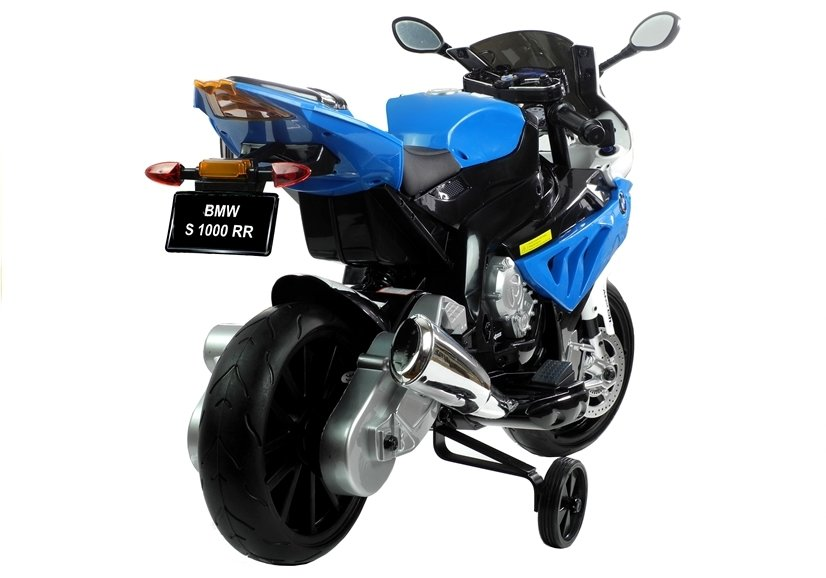 Elektromotorrad für Kinder BMW S1000RR Silbern EVA-Reifen Ledersitz Fahrzeug Batteriebetriebene Fahrzeuge