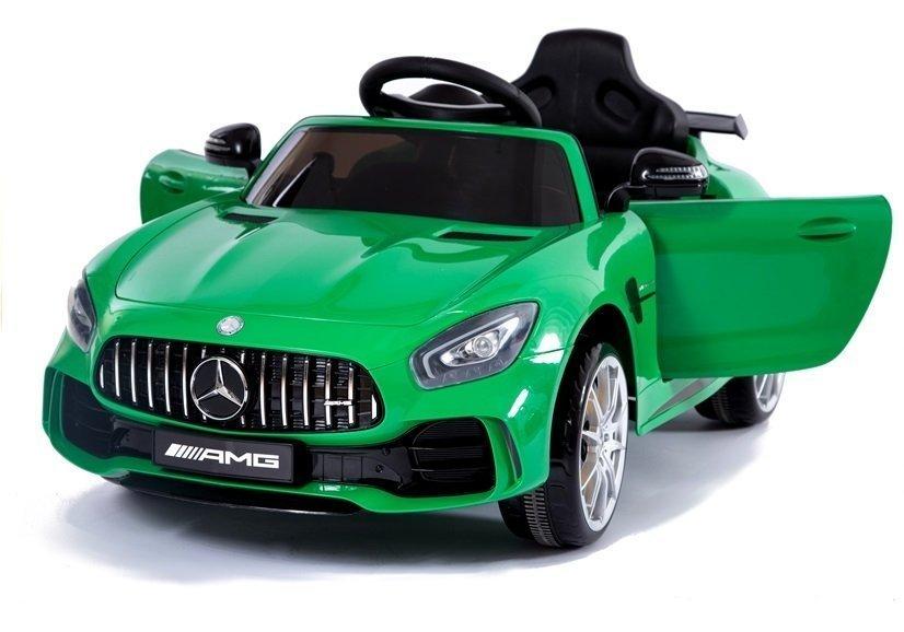 Kinderfahrzeuge Kinderfahrzeug Mercedes AMG GT Rot lackiert EVA-Reifen Ledersitz Fahrzeug