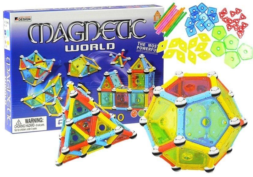 magnetbausteine magnetic world 110 elemente set bausteine f r kinder spielzeug kreativit t. Black Bedroom Furniture Sets. Home Design Ideas