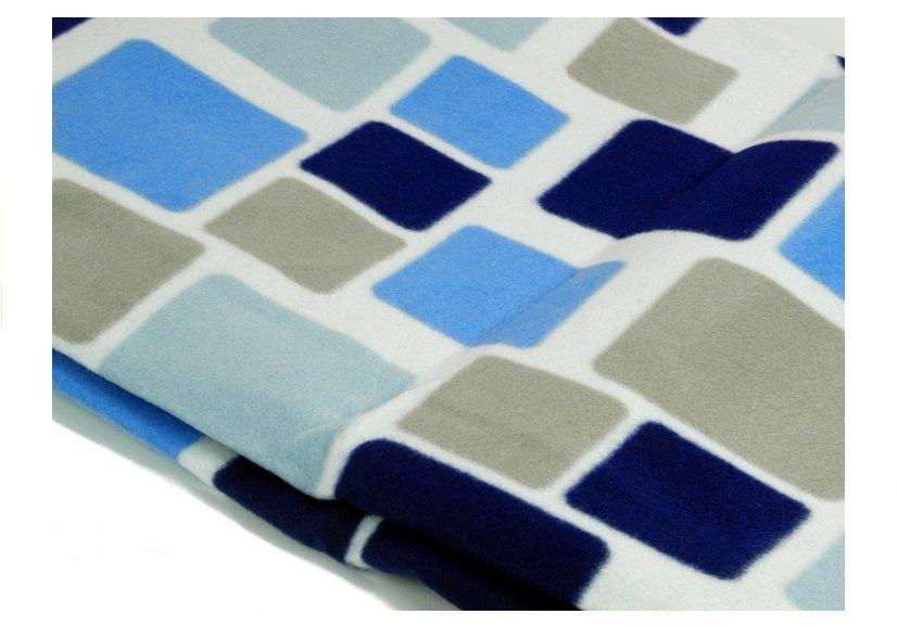 picknickdecke 200x200cm blau wei weiches material kariert campingdecke decke. Black Bedroom Furniture Sets. Home Design Ideas